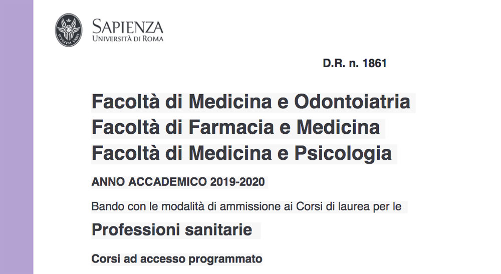 Calendario Accademico Sapienza 2020 2020.Benvenuti Alla Sabina Universitas