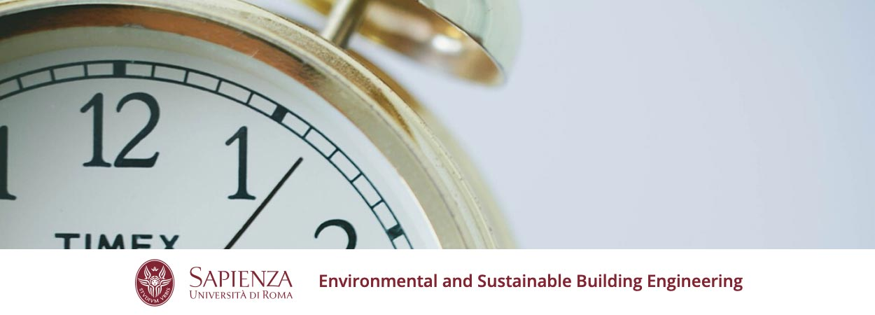 Environmental and Sustainable Building Engineering | Timetable of the 2nd semester